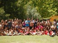 Los participantes del campamento en Portugal