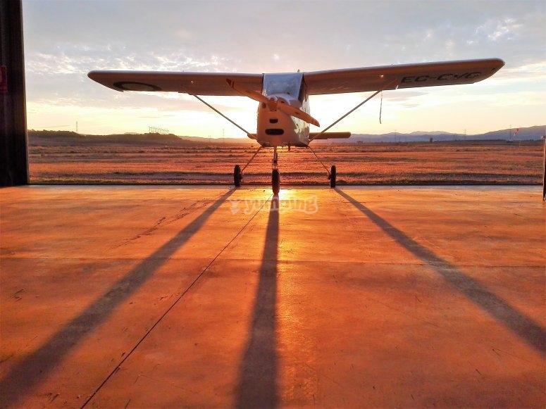 Aeronave en el aerodromo