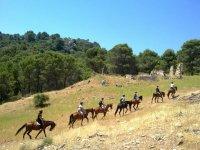 Riding through the countryside