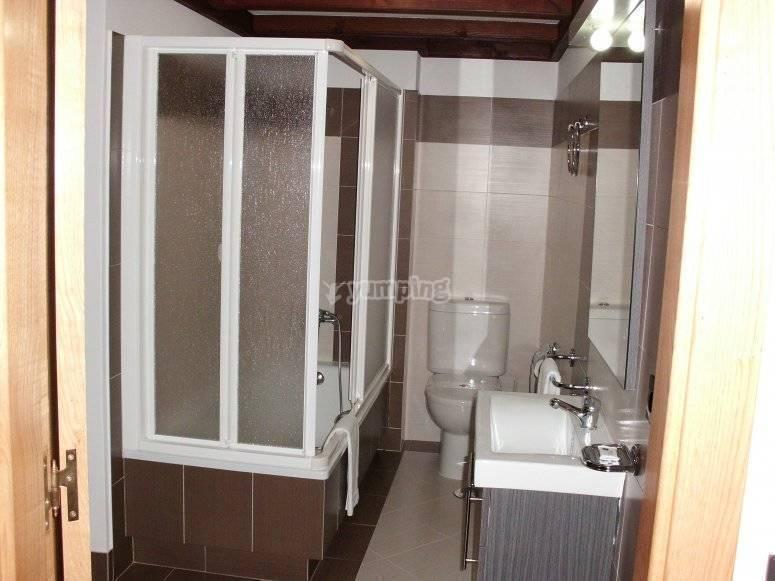 我们的住宿浴室