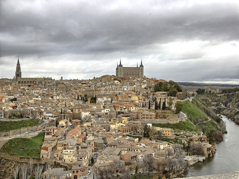 View of Toledo from the hot air balloon