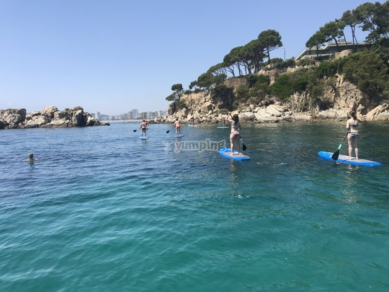 Crystalline water perfect for paddle surf