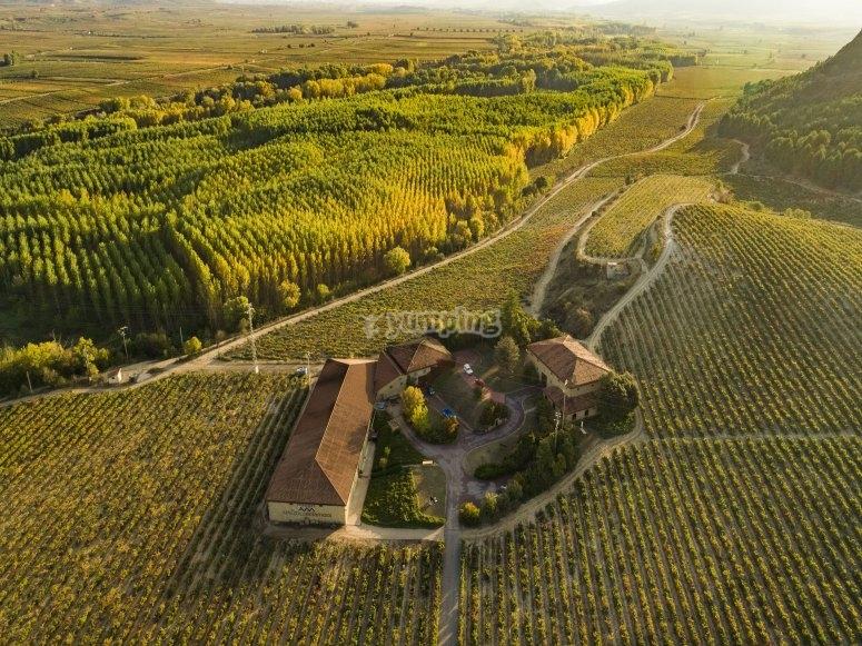 Veduta aerea della fattoria
