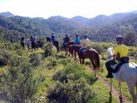 Travel on horseback trails