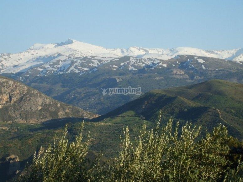 Panoramica del Pico del Veleta en Sierra Nevada