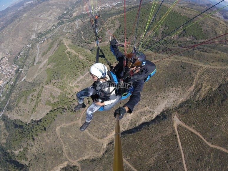 Volando a una altura de 1300 metros