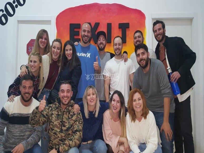 Grupo ganador escape room Malaga