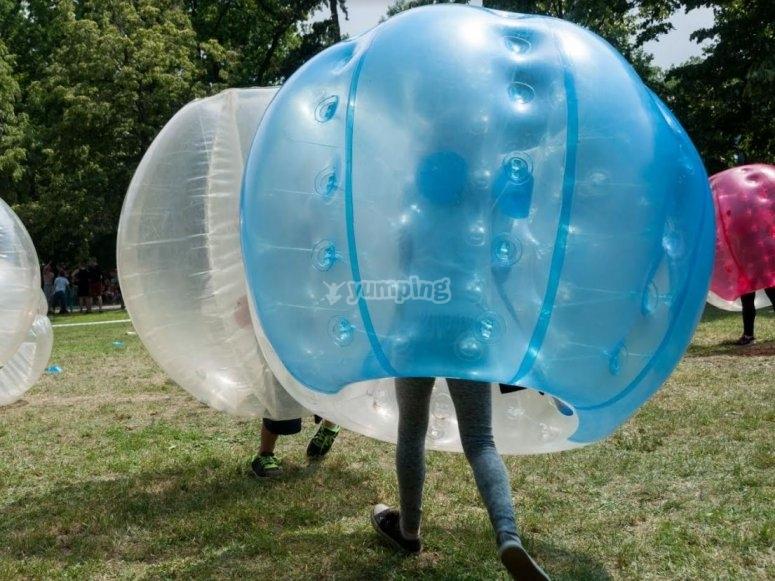 Bubble soccer en Avila