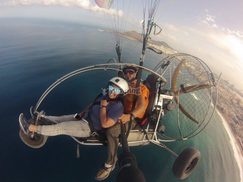 大加那利的动力伞