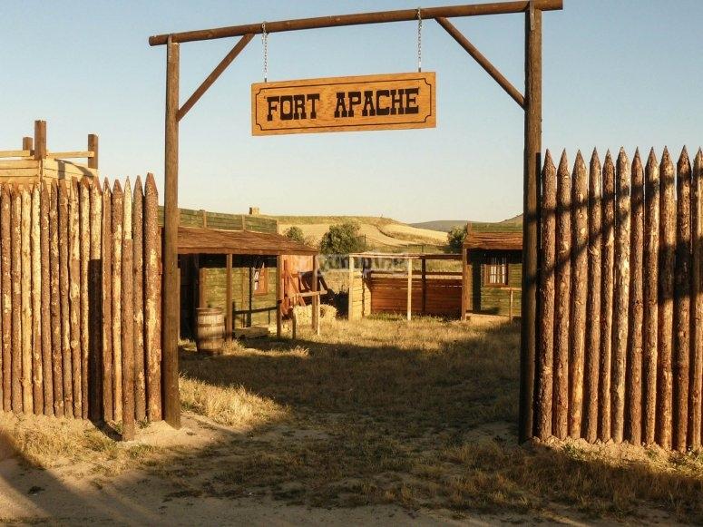 Entrada a nuestro escenario del Viejo Oeste