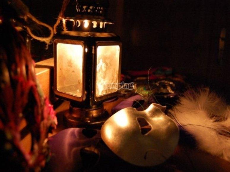 El candil encendido