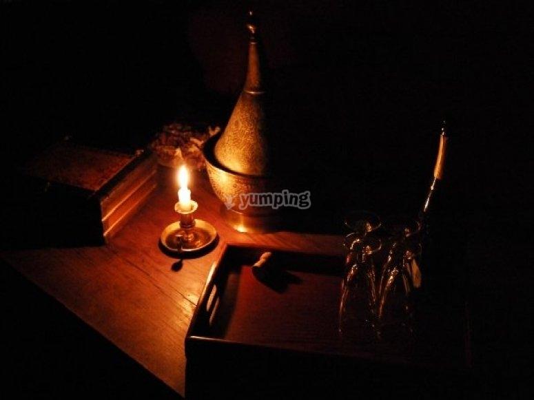 La unica luz de la vela