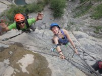 Ferrata climbing course Sorrosal waterfall