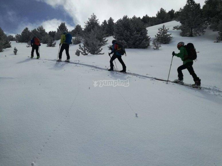Escapada raquetas de nieve
