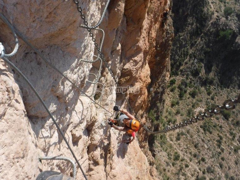 Climbing the staples