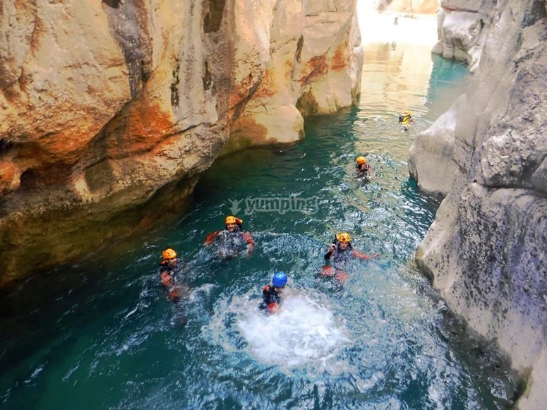 Canyoning a Pozo Alcón
