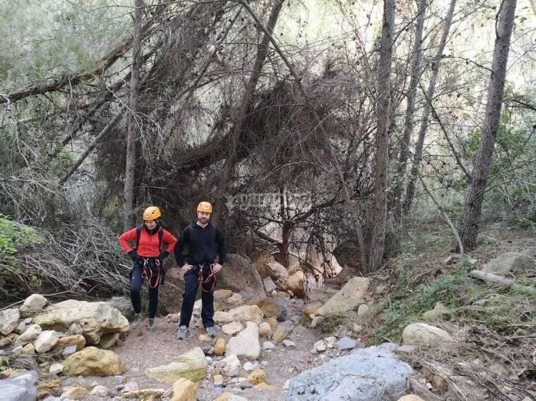 Descenso barranco seco en Carrascoy