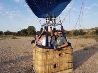 Discover Huesca riding on a hot air balloon