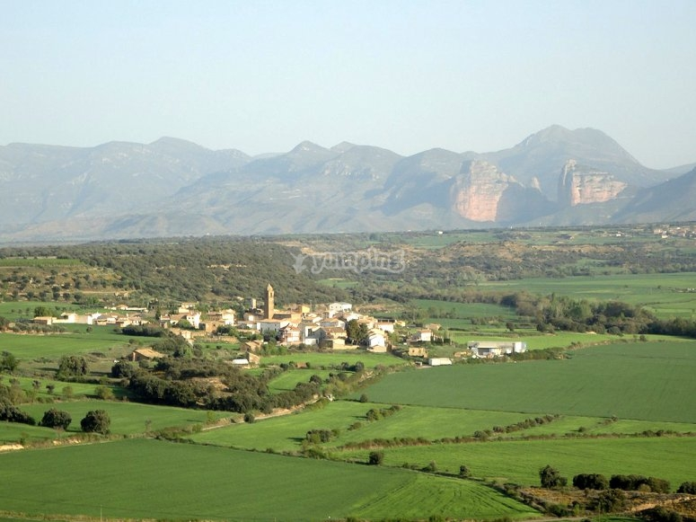 Panoramic view of the town
