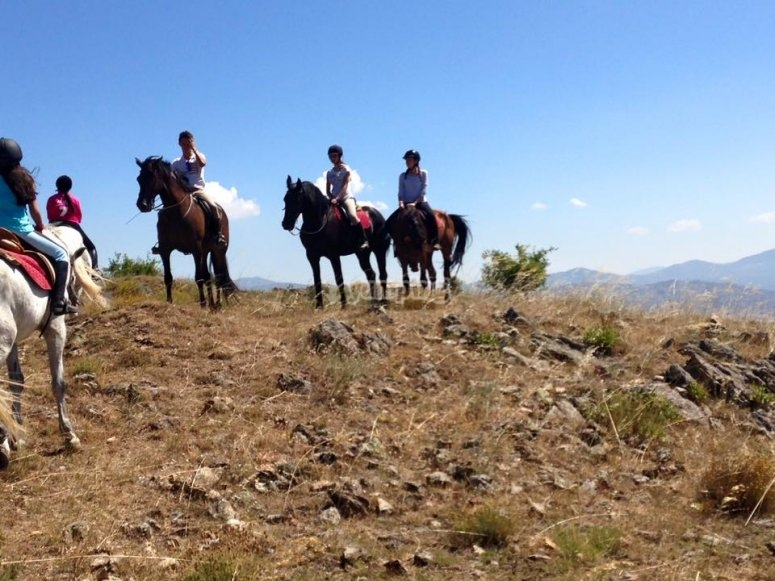 In the mountains of Madrid by horse