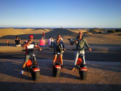 Tour scooter eléctricos Maspalomas Gran Canaria 2h