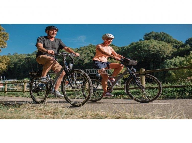 Ruta en bici con pareja por Maspalomas