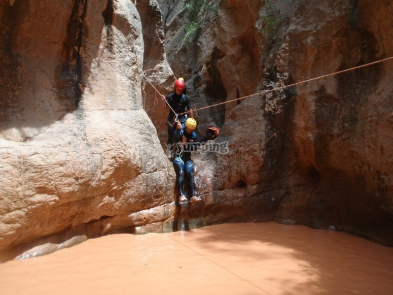 Zipwire in a canyon