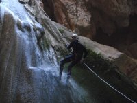 Rappeling in the itinerary
