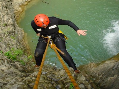 Water canyoning level II in Lapazosa or Consusa