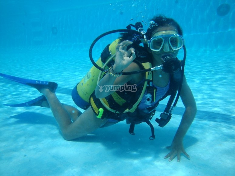 Buceando bajo el agua