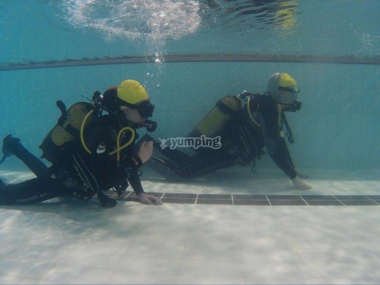 有经验的潜水监视器