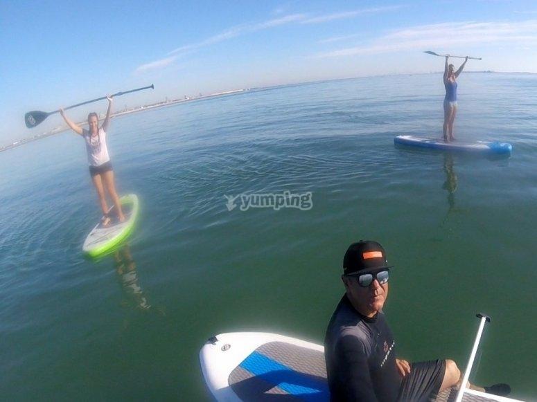 Paddle surf con amigos