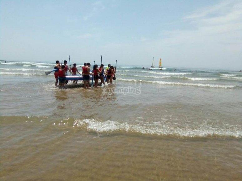 Paddle surf con el colegio
