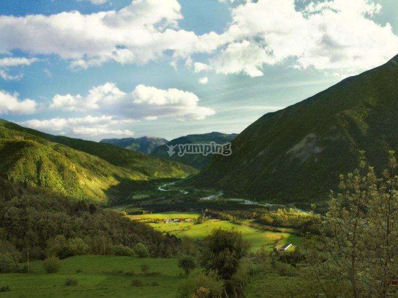 Vistas de las montanas