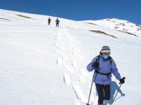 Largas caminatas por la nieve