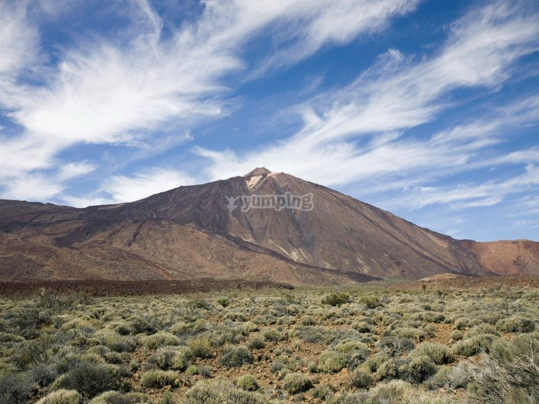 Landscape with the Teide in the background in Tenerife