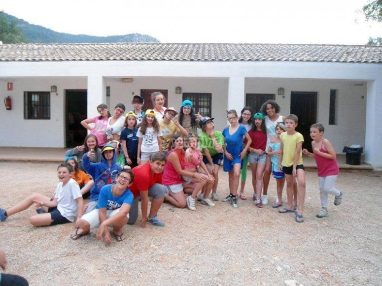Group of students in Holy Week camp in Tenerife