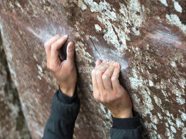 Esfuerzo durante la escalada