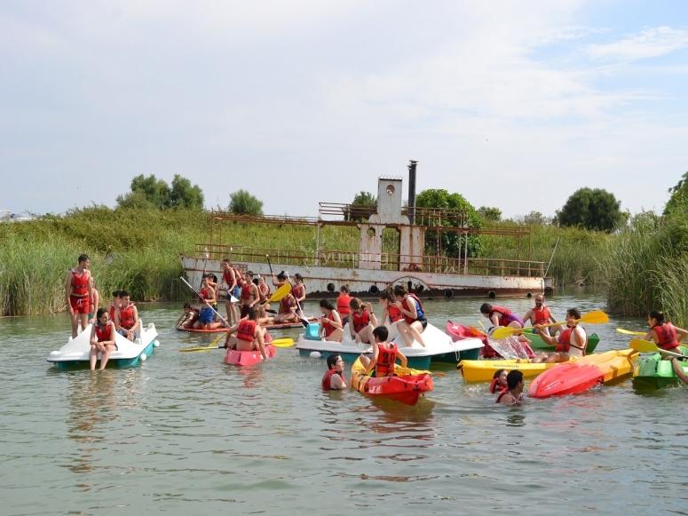 Group on a kayak