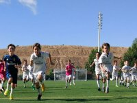 Corriendo en el campo de juego