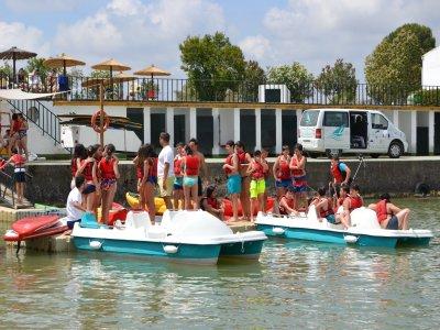 Actividades acuáticas colegios embalse Cádiz 2 h.