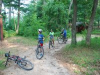 Por el monte en bici