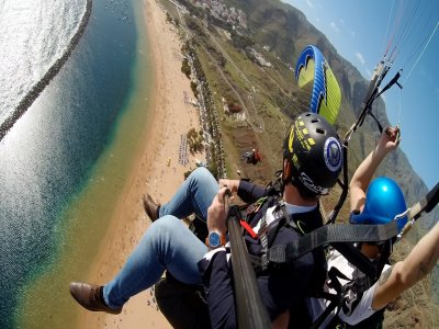 Vuelo en parapente a 800 metros Tenerife 25 min
