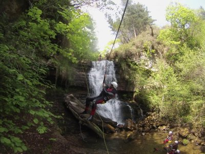 2 hour water canyoning for children in La Hermida