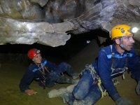 Espeleología en cueva del Yeso en Almería