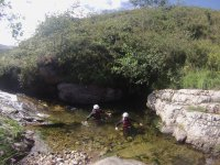 2 hour canyoning for children in river Sebrando