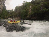 Rafting in rapids