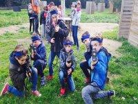 Gioco laser da combattimento all'aperto per bambini a Montgrí