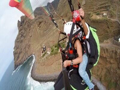 Vuelo en parapente baja montaña en Tenerife 15 min