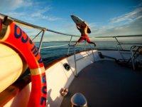 Disfrutando en alta Mar